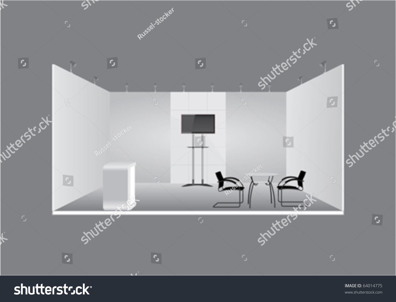 Exhibition Stand Design Vector : Vector d exhibition stand display stock
