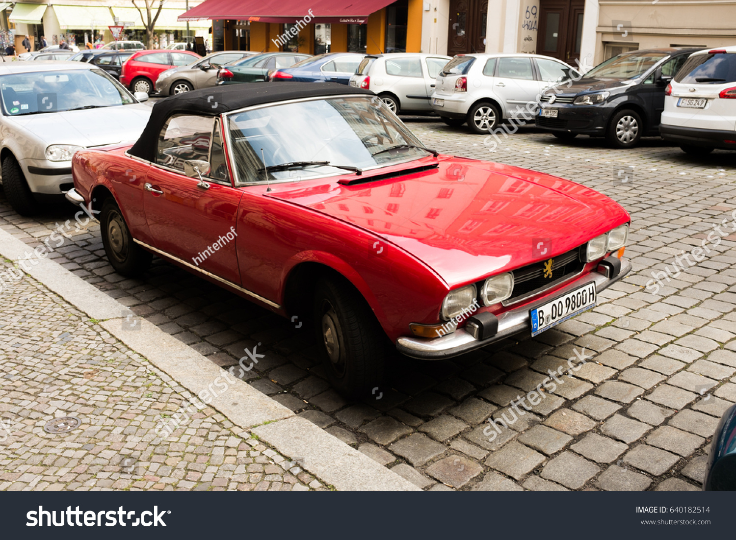 Berlin May 3th Vintage Red Peugeot Stock Photo Edit Now 640182514