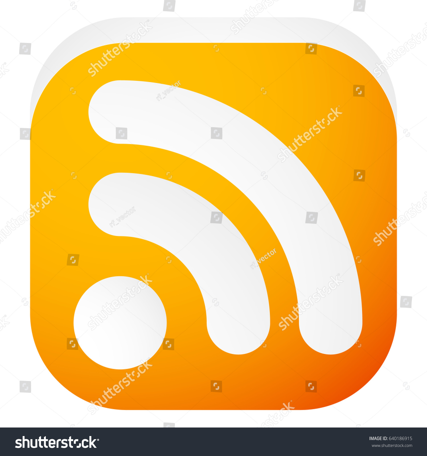 Generic signal rss feed icon symbol stock vector 640186915 generic signal or rss feed icon symbol for syndication wireless communication concepts biocorpaavc Choice Image