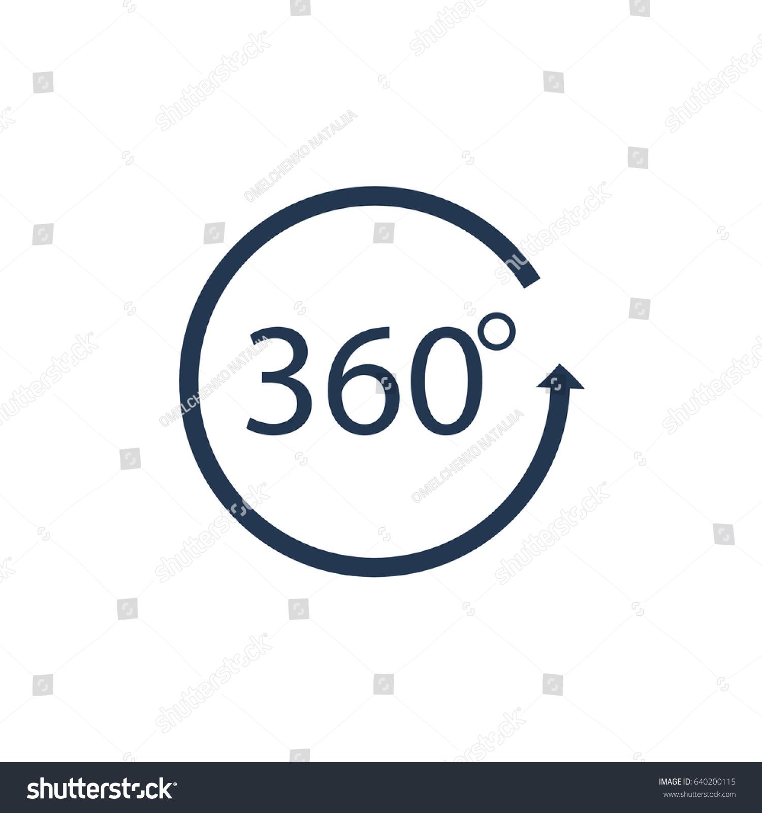 Angle 360 Degrees Sign Icon Ez Canvas