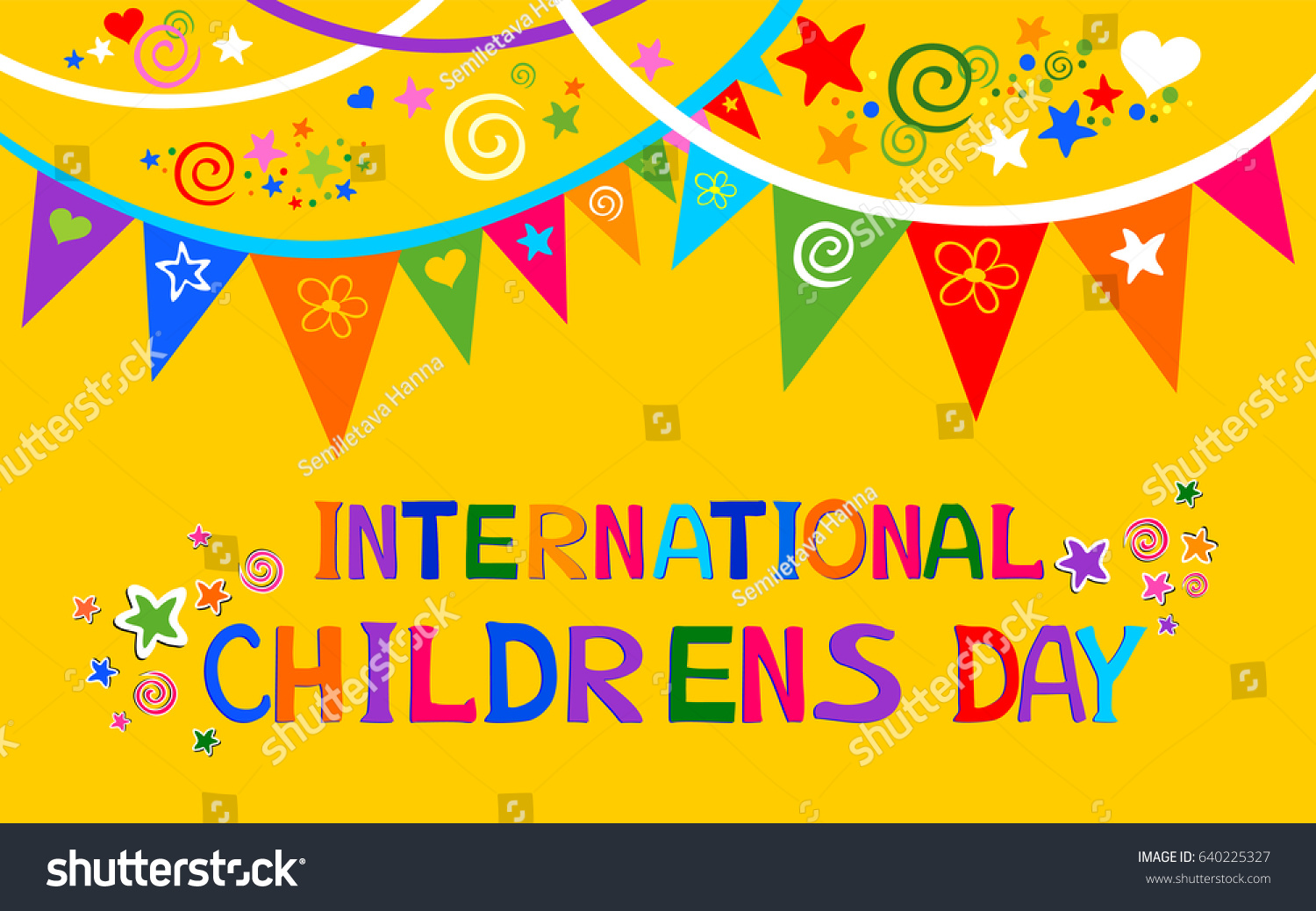 International Childrens Day Happy Children Day Stock Illustration