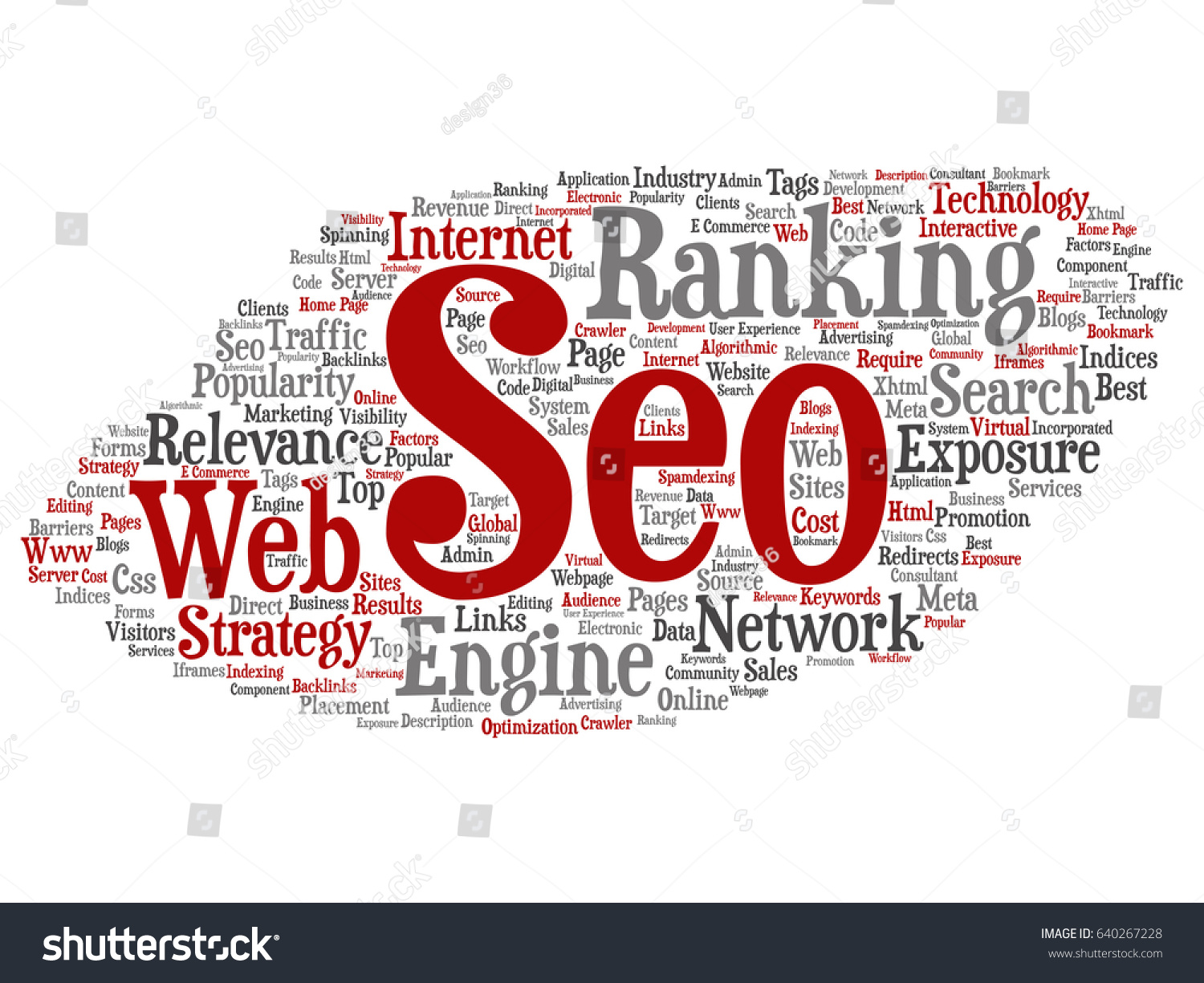 Conceptual Search Results Engine Optimization Top Stock Illustration All Electronic Component On This Page And Following Pages Rank Seo Abstract Online Internet Word Cloud Isolated