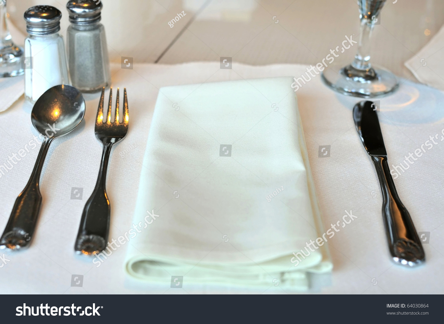Restaurant Kitchen Utensils restaurant table layout white kitchen utensils stock photo
