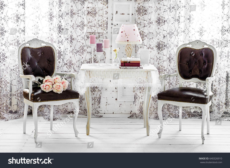 Shabby Chic Room Interior Wedding Decor Stock Photo (Edit Now ...