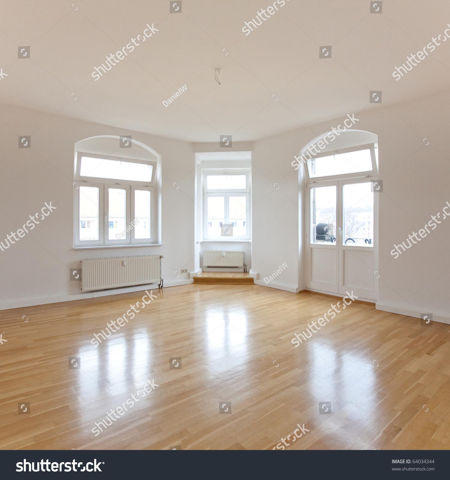 Empty Living Room: Empty Loft Like Living Room Stock Photo 64034344