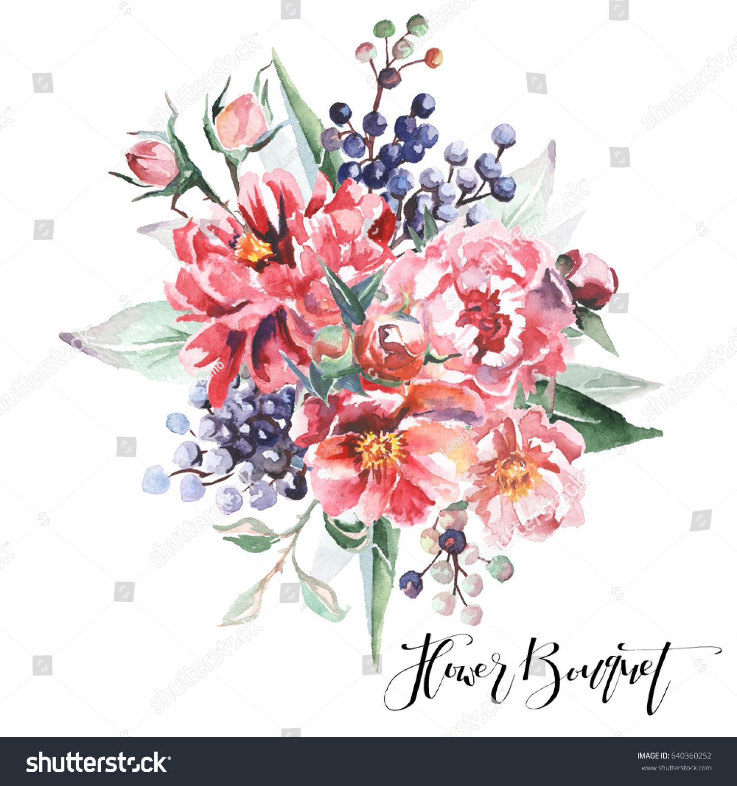 Flower Bouquet Stock Illustration 640360252 Shutterstock