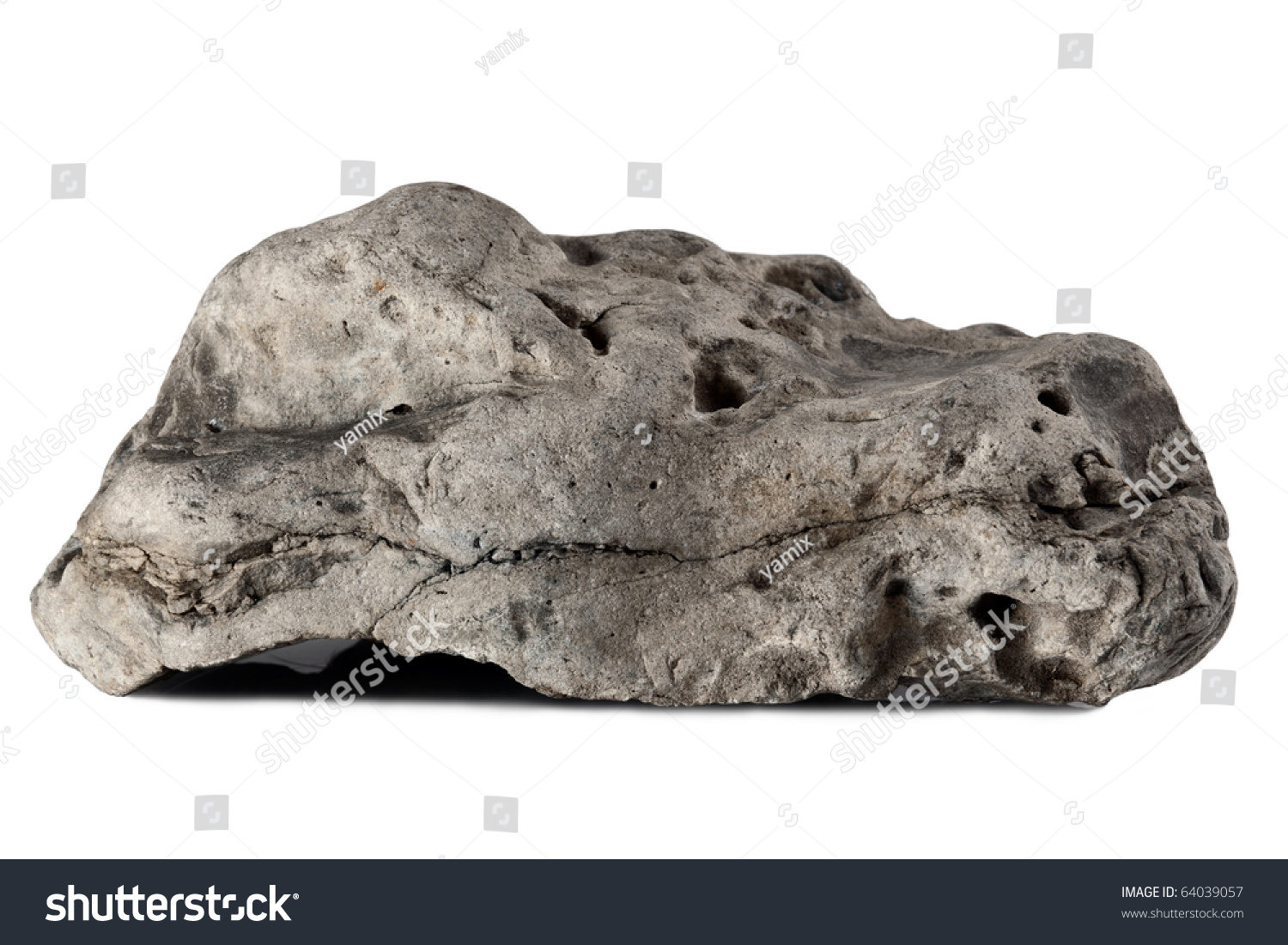 Big rock isolated on a white background stock photo for Large white garden rocks