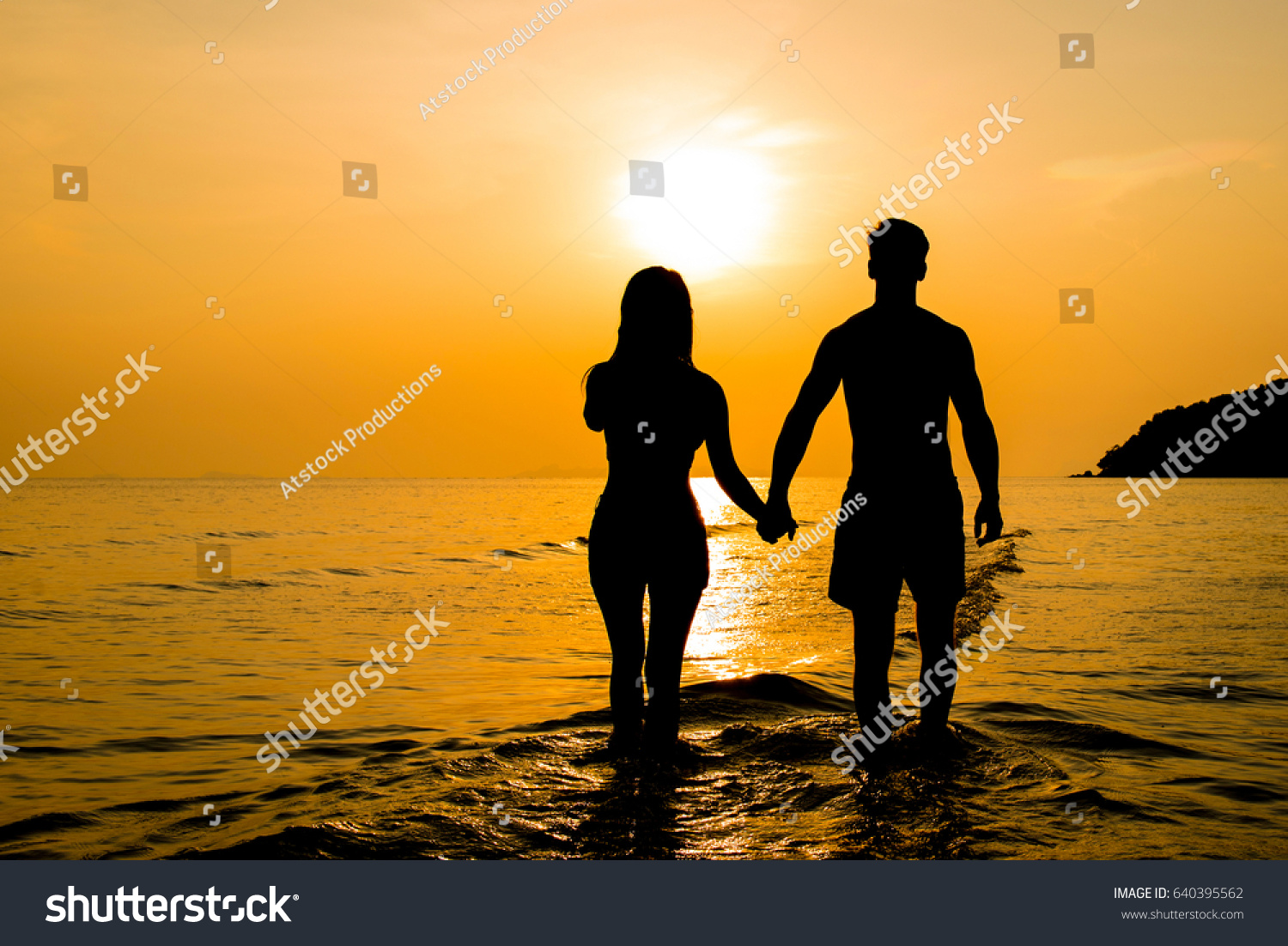 Silhouette Couple Holding Hands Beach Sunset Stock Photo 640395562 ... for Couple Holding Hands Silhouette Sunset  104xkb