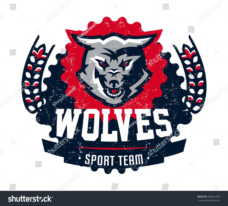 Design Printing On Tshirts Aggressive Wolf Stock Vector Royalty