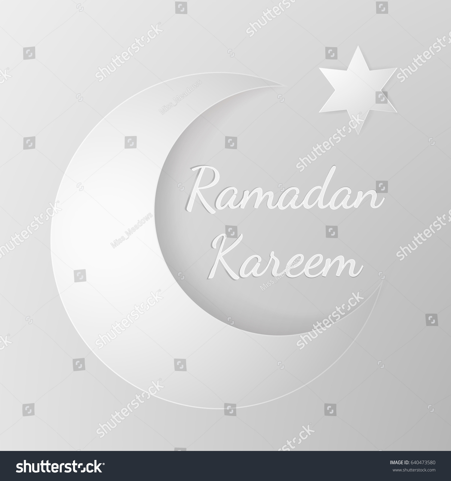 Vector ramadan template design greeting card stock vector 640473580 vector ramadan template design greeting card in 3d style cutting paper moon and stars kristyandbryce Image collections