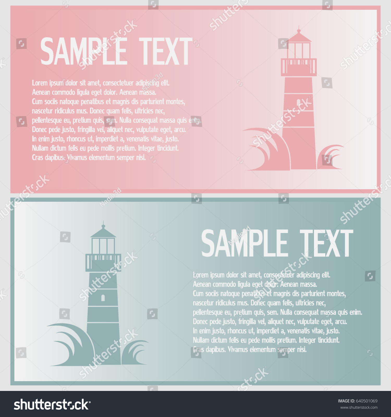 Business Cards Designvector Icon Lighthouse Stock Vector 640501069 ...