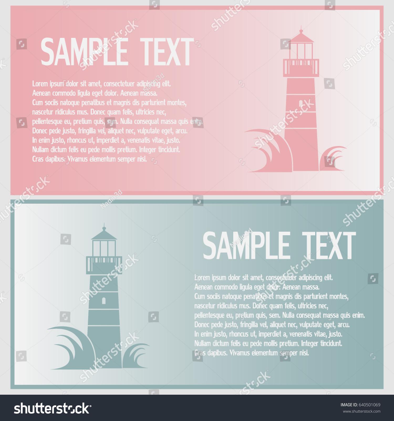 Fine Lighthouse Business Cards Photos - Business Card Ideas ...