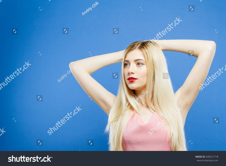 Long hair cute sensual blonde