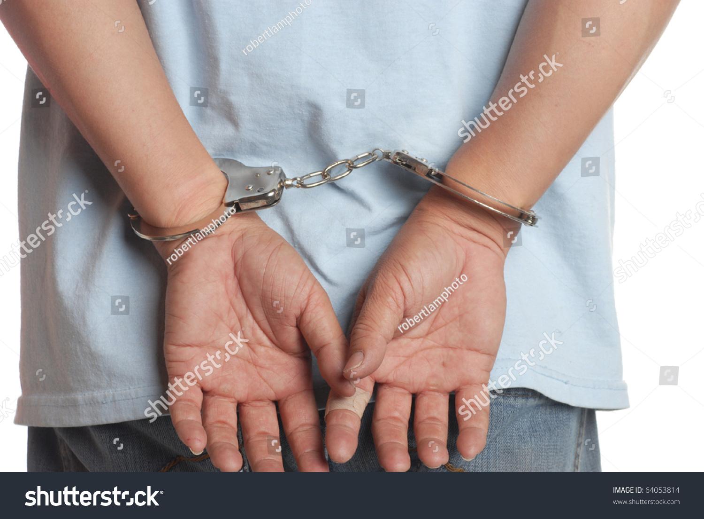 Man Hands Handcuffs Stock Photo (Royalty Free) 64053814 - Shutterstock