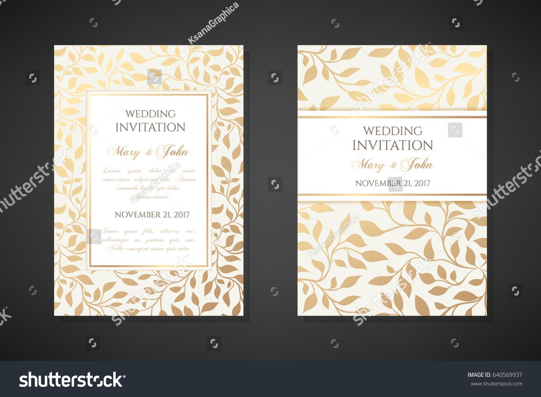 vintage wedding invitation templates cover design のベクター画像