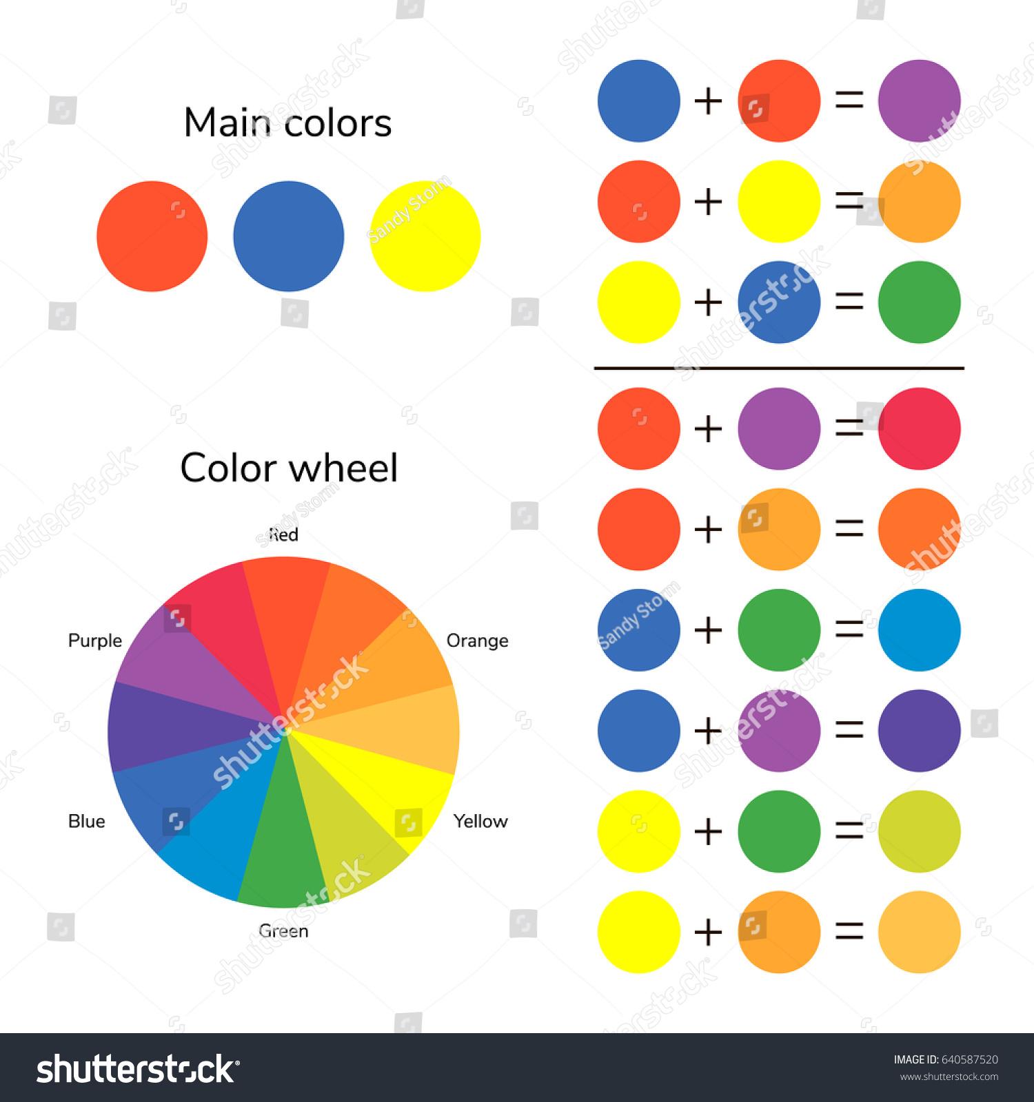 vector illustration infographics color wheel color stock vector 640587520 shutterstock. Black Bedroom Furniture Sets. Home Design Ideas