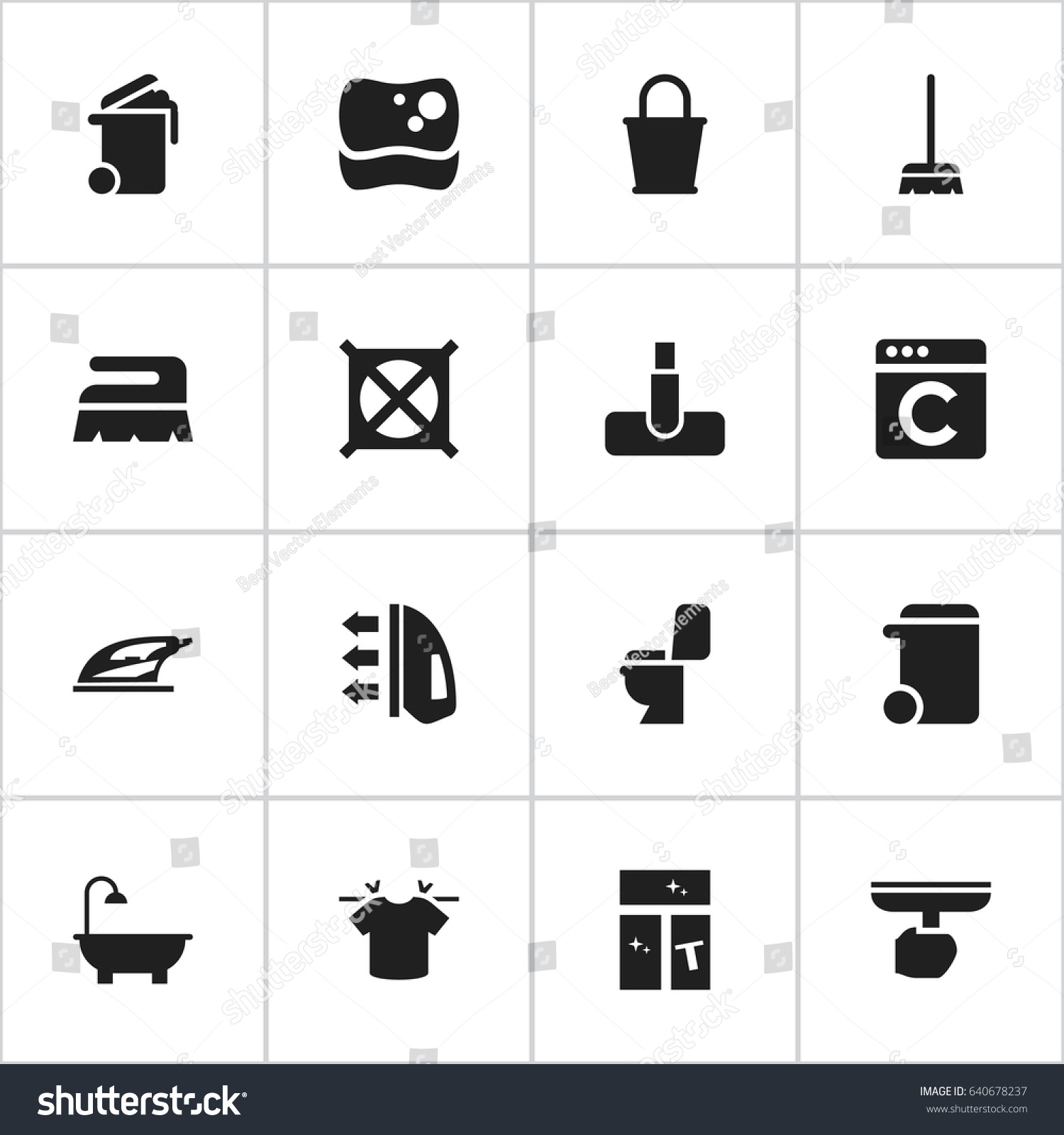 Dry clean symbol images symbol and sign ideas set 16 editable drycleaning icons includes stock vector 640678237 set of 16 editable dry cleaning icons buycottarizona Choice Image