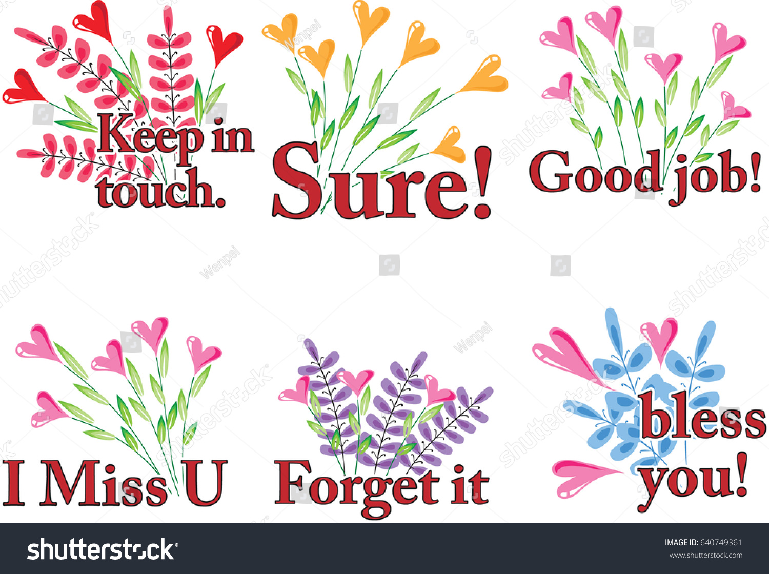 Flower Greeting Card Stock Vector Royalty Free 640749361