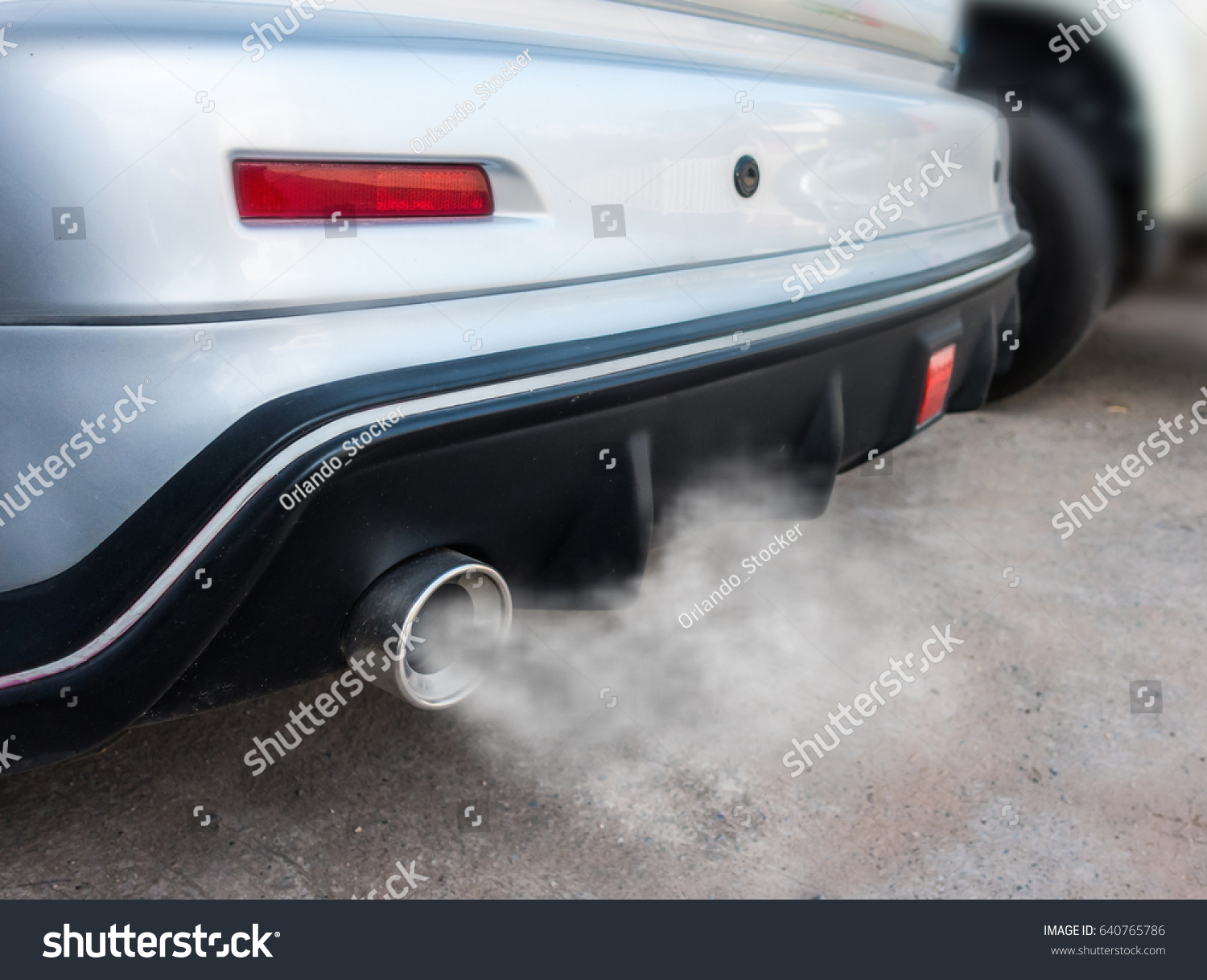 Exhaust Coming Out Of A Car ~ Car exhaust pipe comes out strongly stock photo