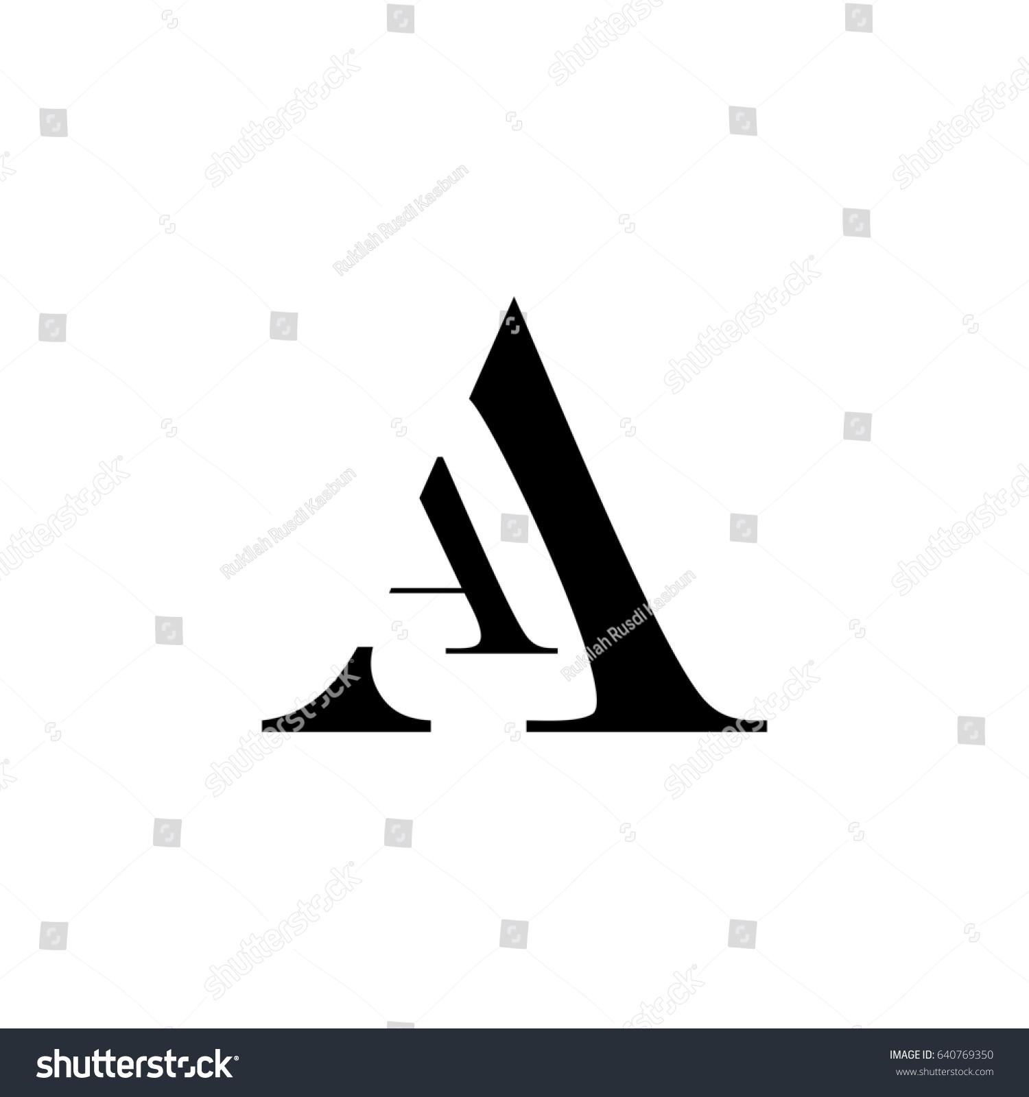 letter vector logo aa letter vector のベクター画像素材
