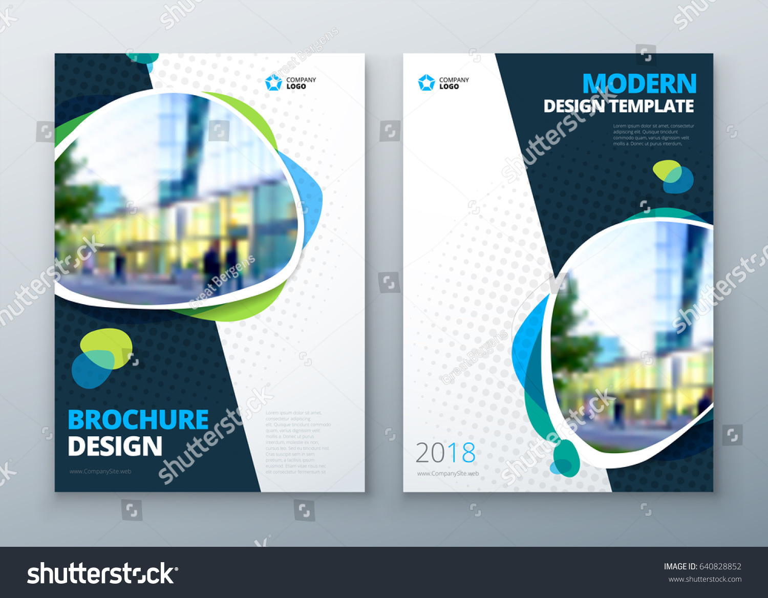 Brochure Template Layout Design Corporate Business Stock ...