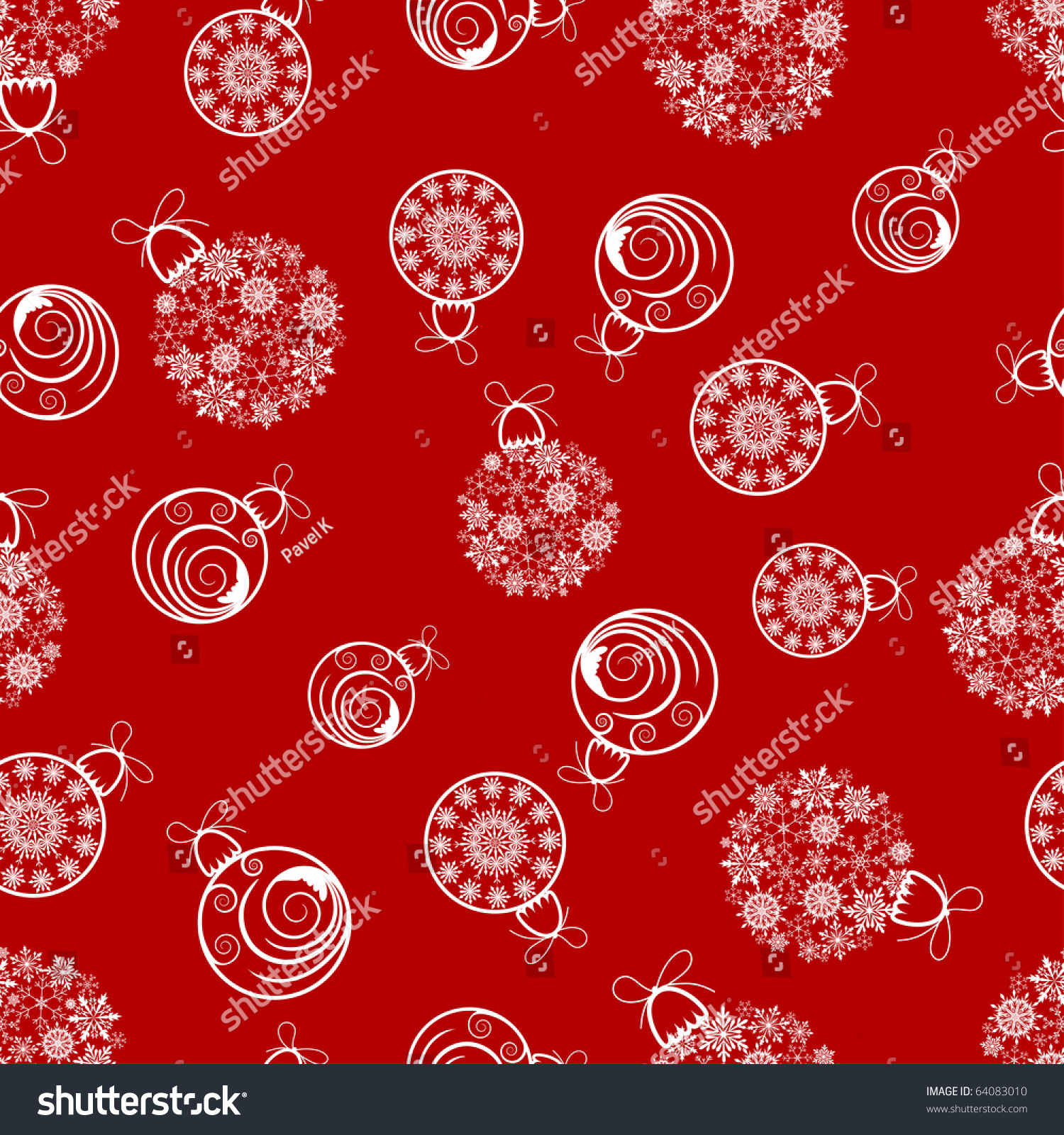 Beautiful vector christmas new year background for design use - Beautiful Vector Christmas New Year Seamless Background For Design Use