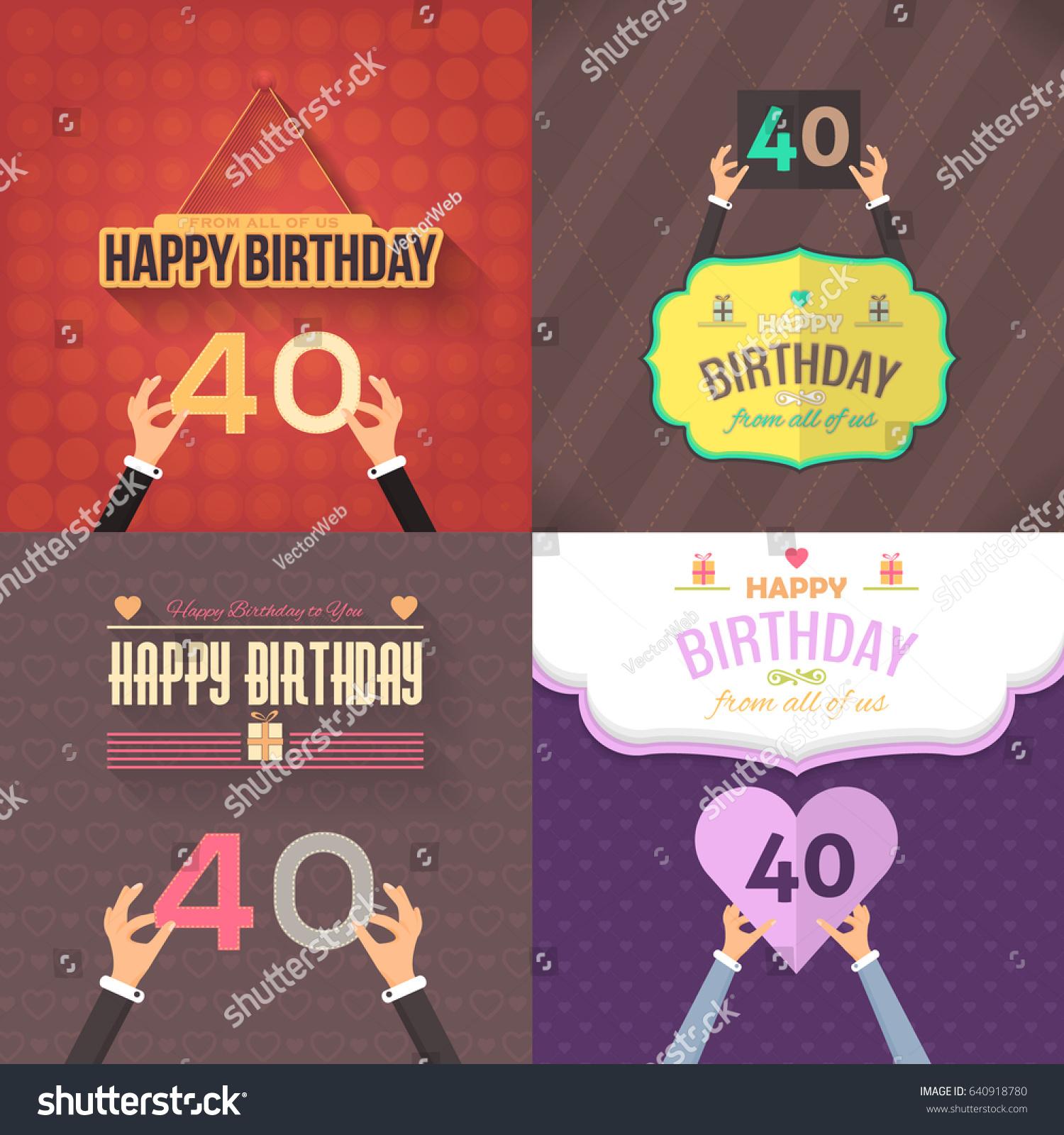 Happy Birthday Vector Design Greeting Card Stock Vector