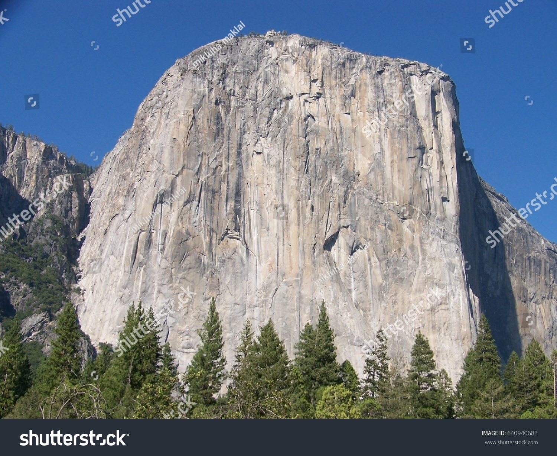 view el capitan rock yosemite national stock photo (royalty free