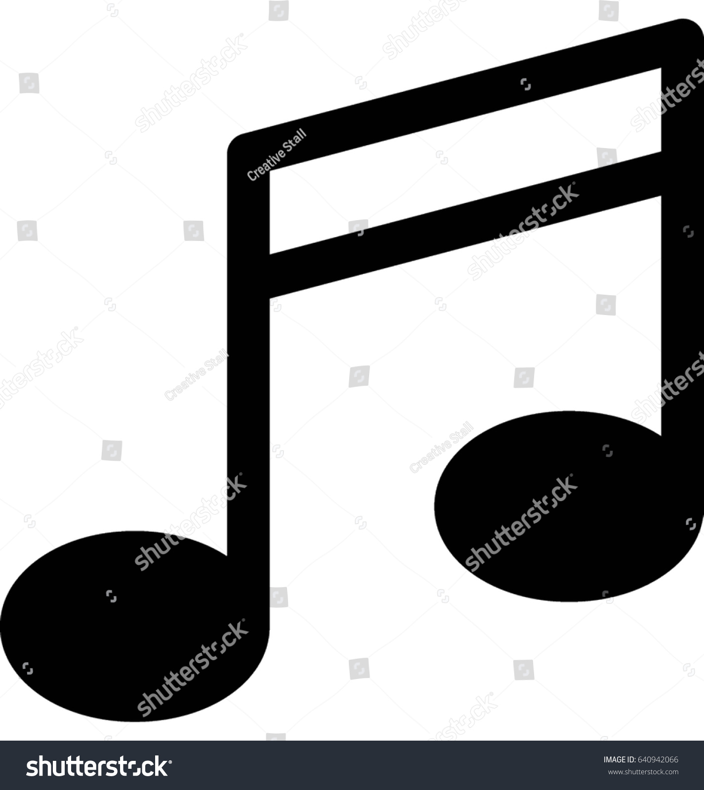 music note vector icon stock vector 640942066 shutterstock rh shutterstock com vector music notes free vector musical notes