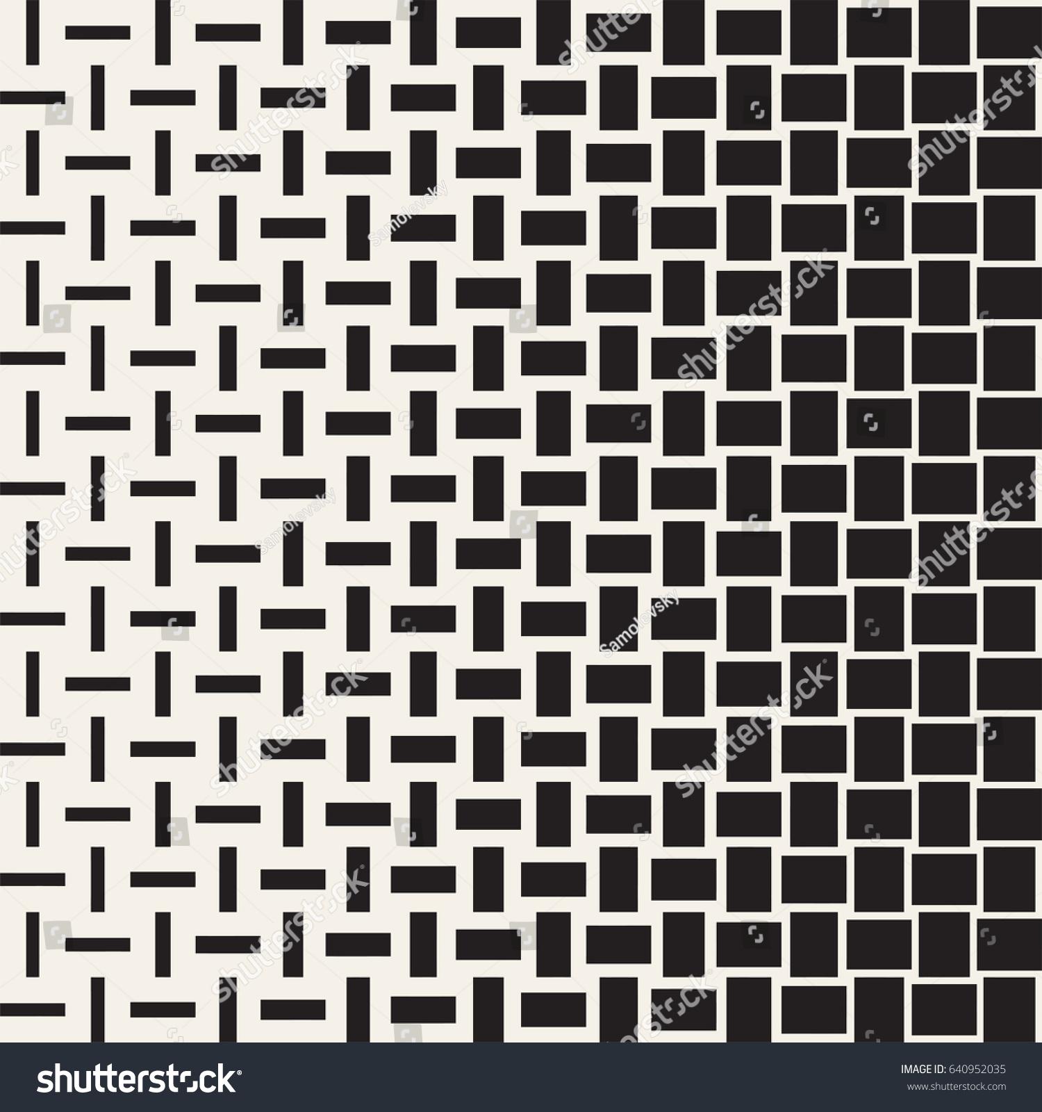 vector seamless geometric pattern halftone gradient stock vector