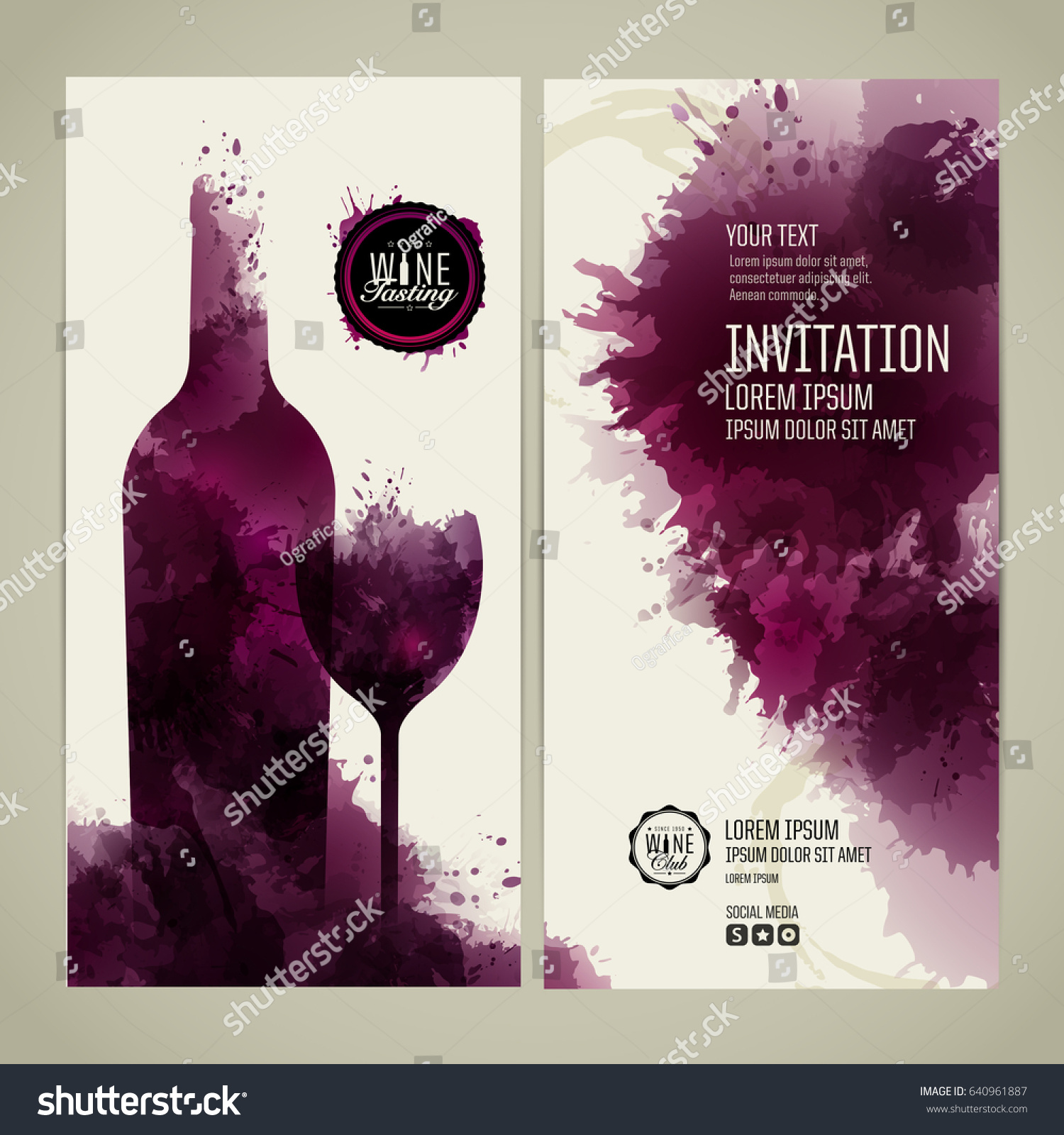 invitation template event party suitable tasting stock vector, Presentation templates