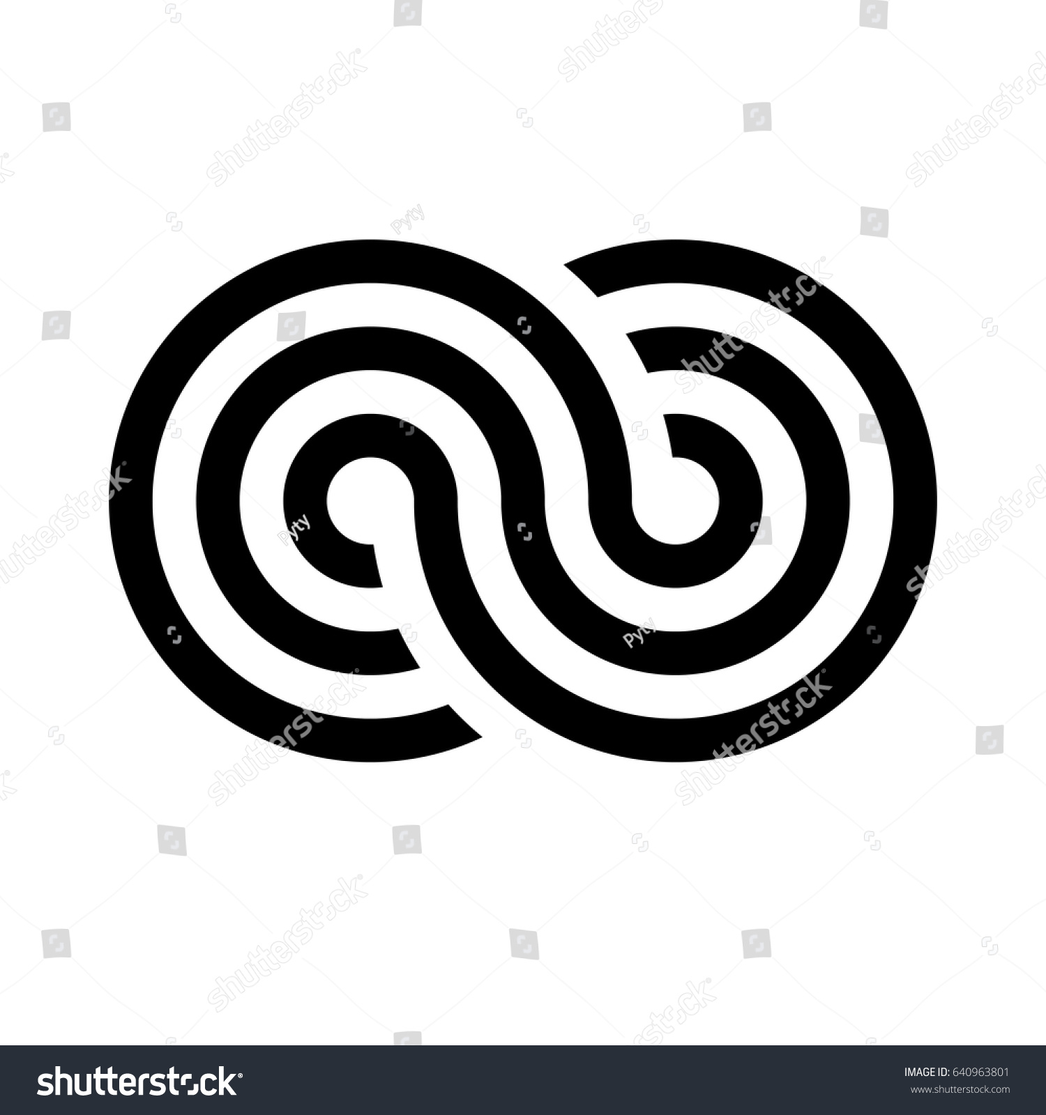 Infinity symbol icon representing concept infinite stock vector infinity symbol icon representing the concept of infinite limitless and endless things simple biocorpaavc Gallery