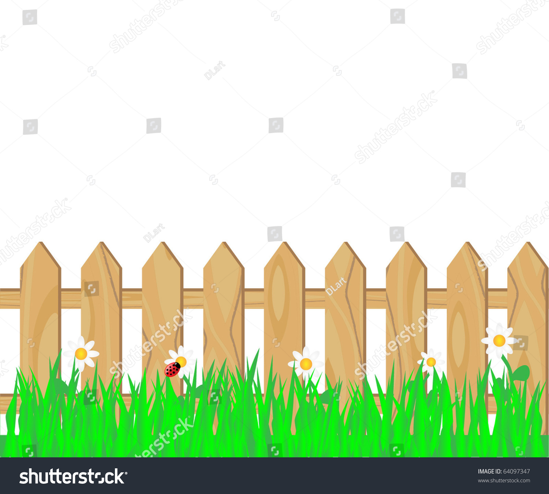 wooden fence stock vector shutterstock