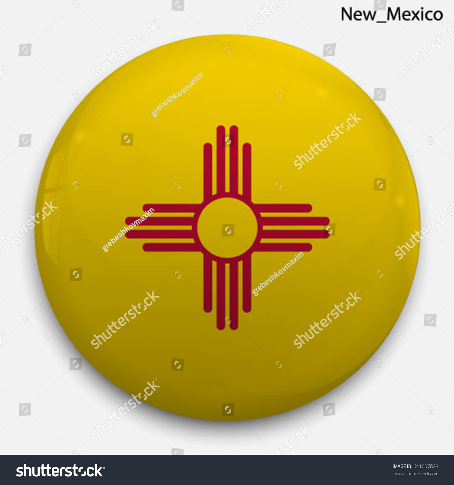 Round glossy button flag new mexico stock vector 641007823 round glossy button with flag of new mexico state of the usa with the buycottarizona