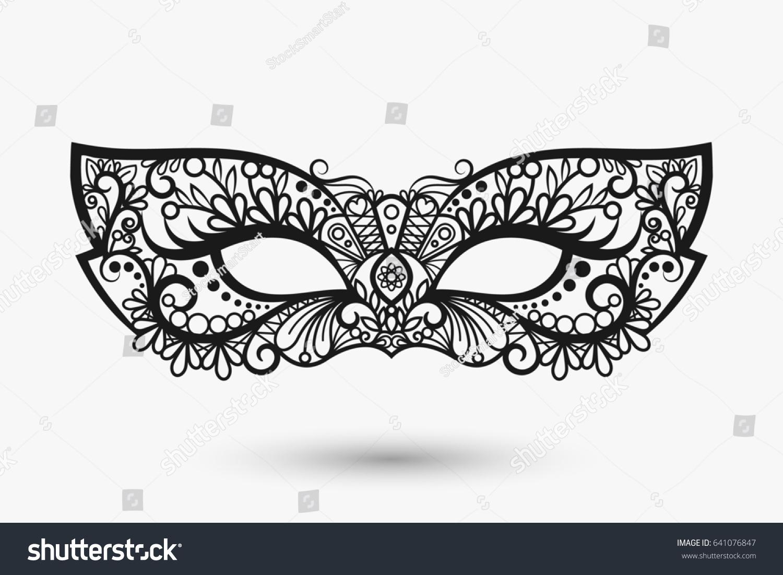Beautiful Lace Mask Mardi Gras Mask Stock Illustration 641076847 ...