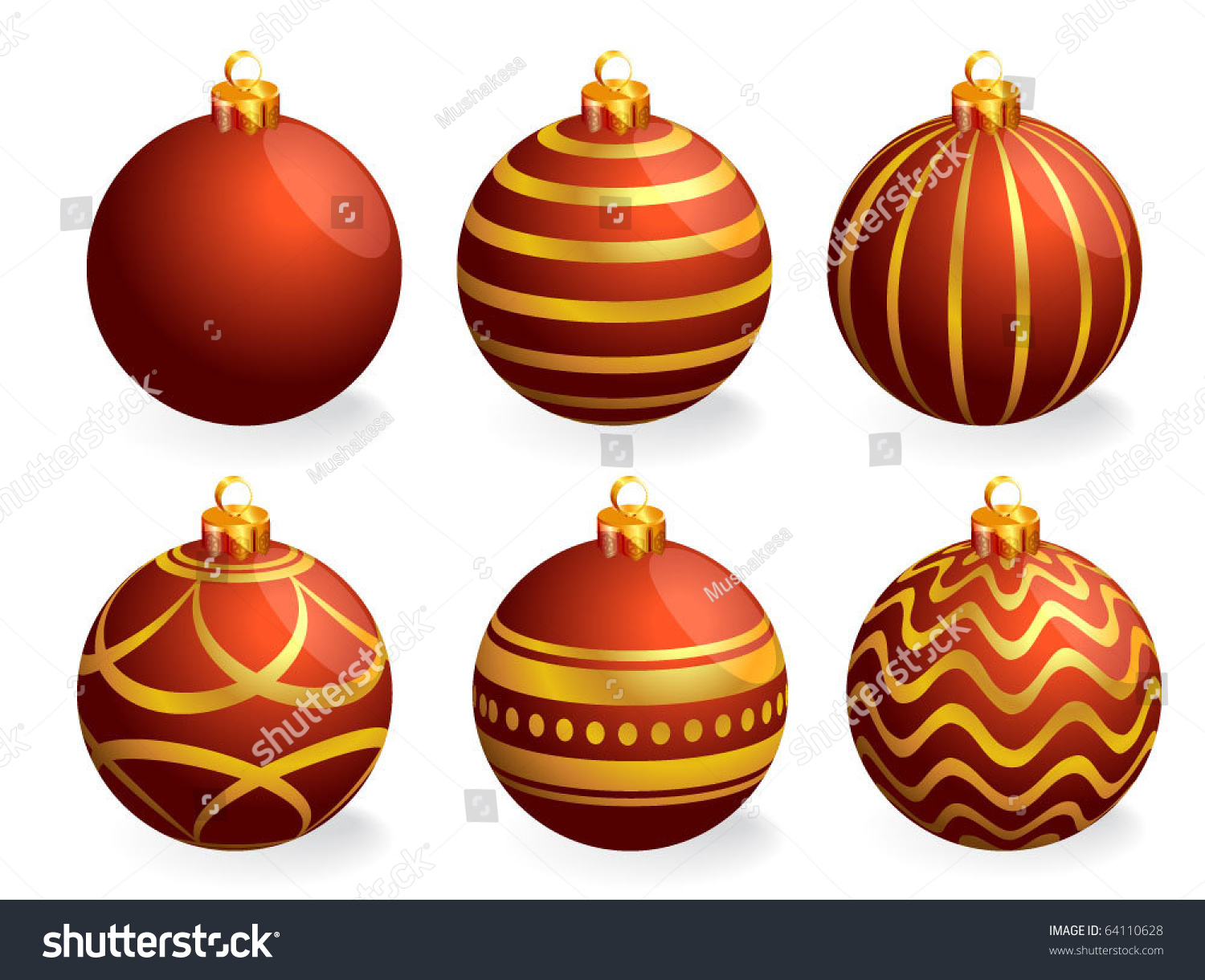 Red and gold christmas ornaments - Red And Gold Christmas Ornaments 39
