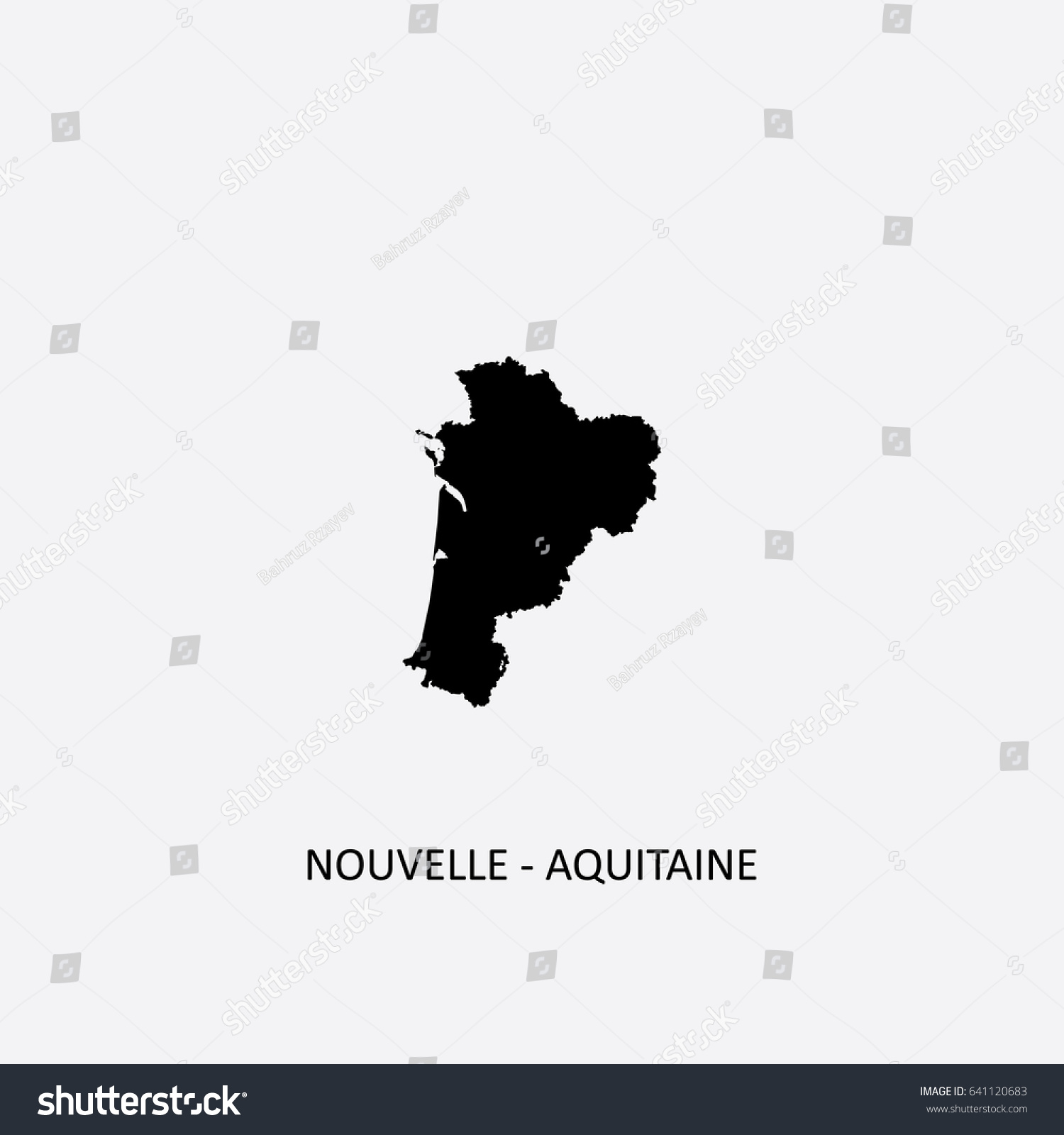 Map Nouvelleaquitaine France Vector Illustration Stock Vector