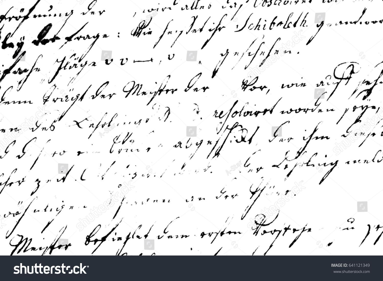 letter pattern illegible handwritten template black white texture calligraphy
