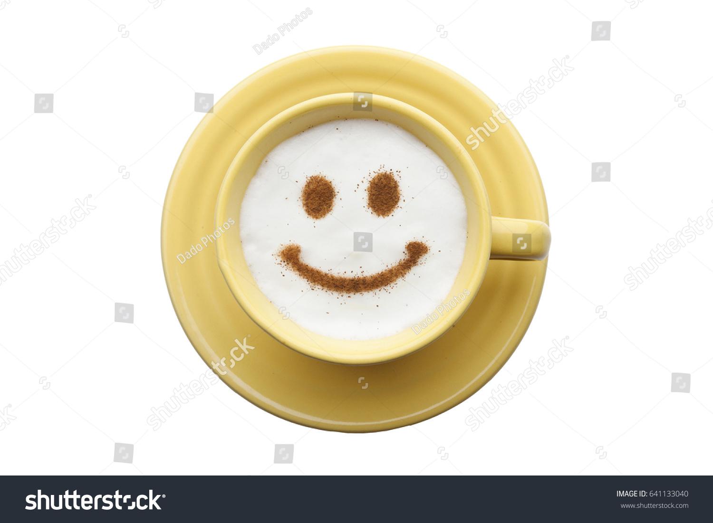 Smiley Face Coffee Mug Cute Yellow Cup Coffee Cream Food Stock Photo 641133040 Shutterstock