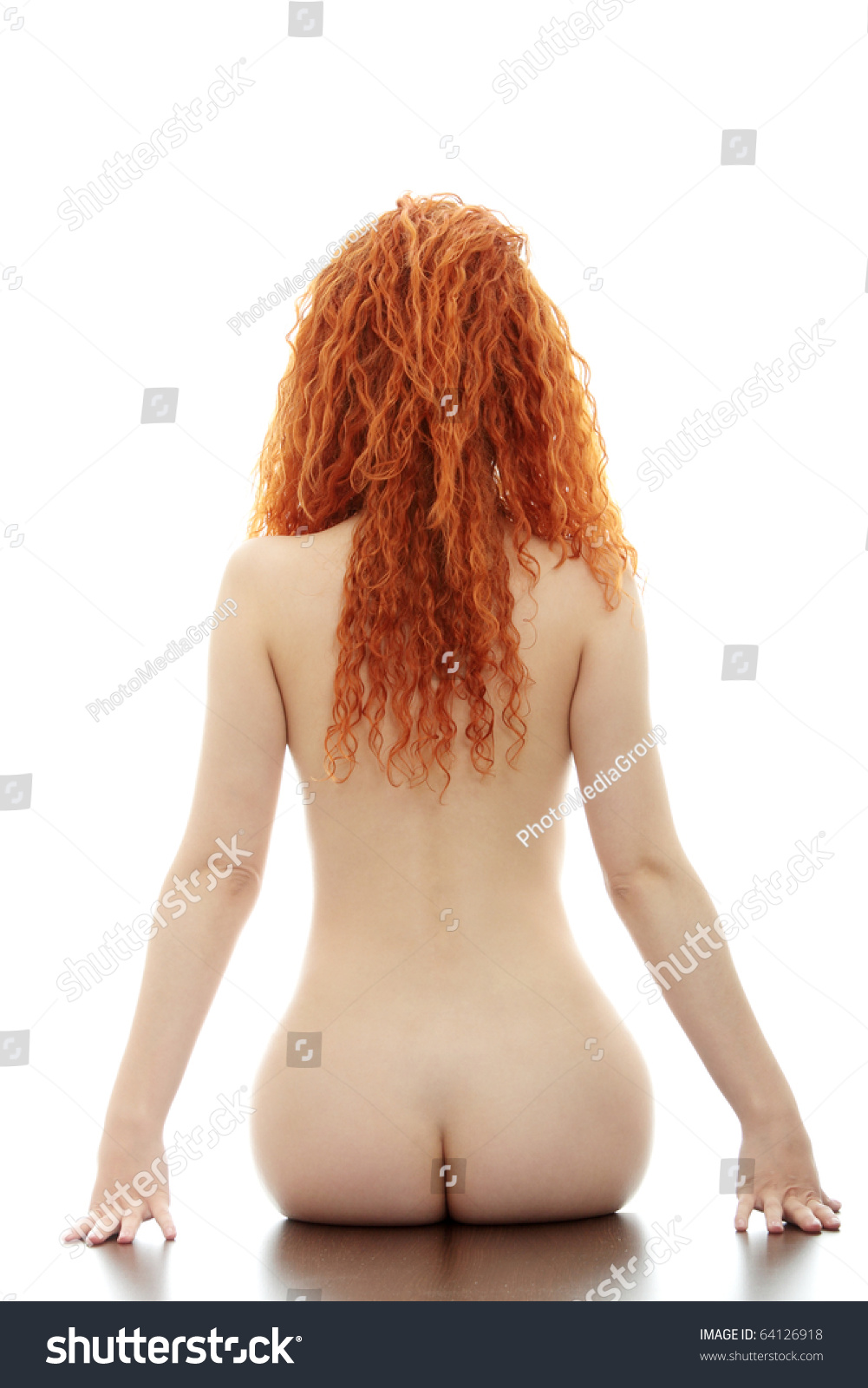 stock photo nude girl from back