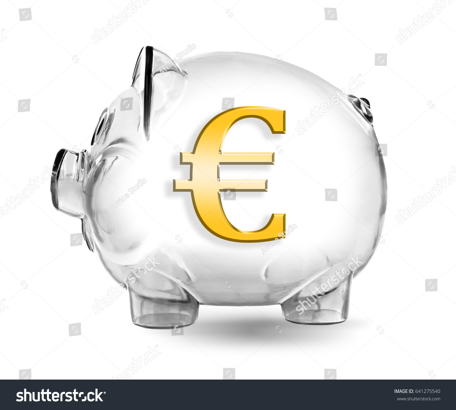 Piggy Bank Symbol Euro Currency On Stock Photo Download Now