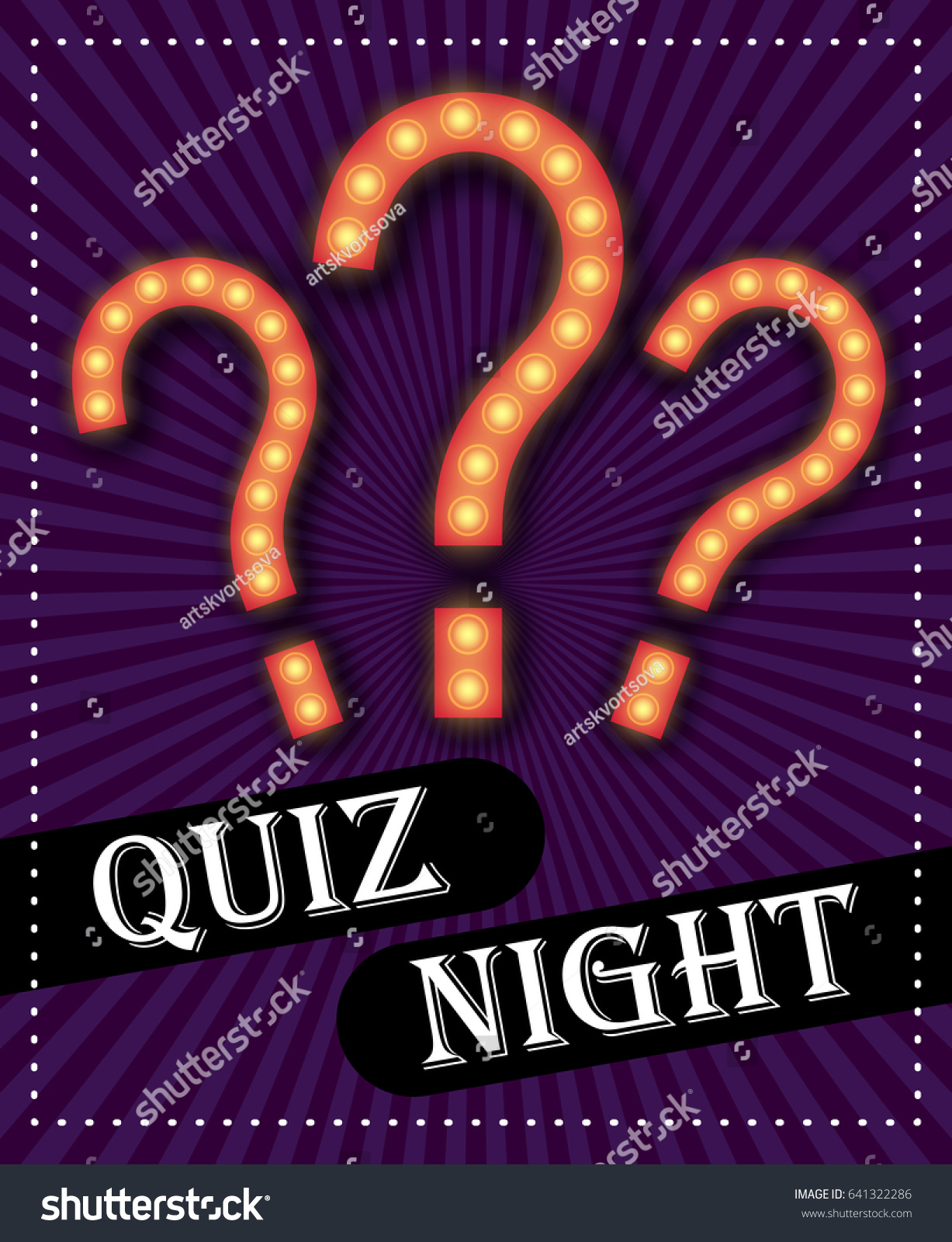 Poster design game - Quiz Night Announcement Poster Design Web Banner Background Vector Illustration Pub Quiz Held In A