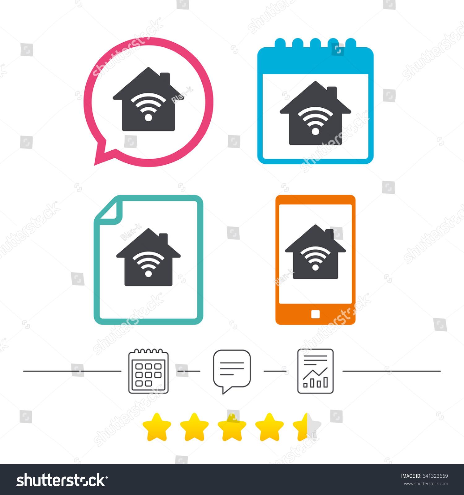 Home Wifi Sign. Wi Fi Symbol. Wireless Network Icon. Wifi Zone.