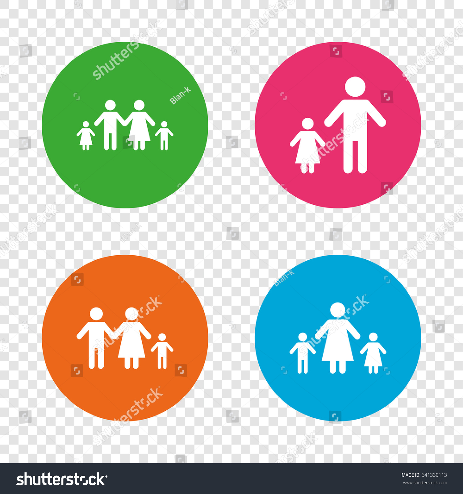 Family two children icon parents kids stock vector 641330113 family with two children icon parents and kids symbols one parent family signs buycottarizona