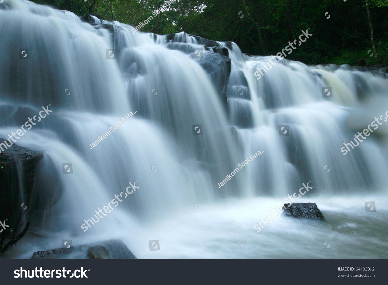 Cool Waterfall Stock Photo 64133092 : Shutterstock