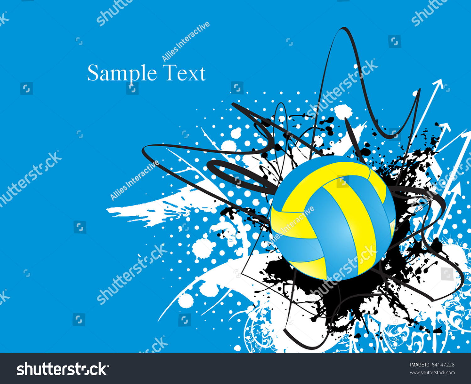 Abstract Grungy Background Volleyball Arrowhead Stock