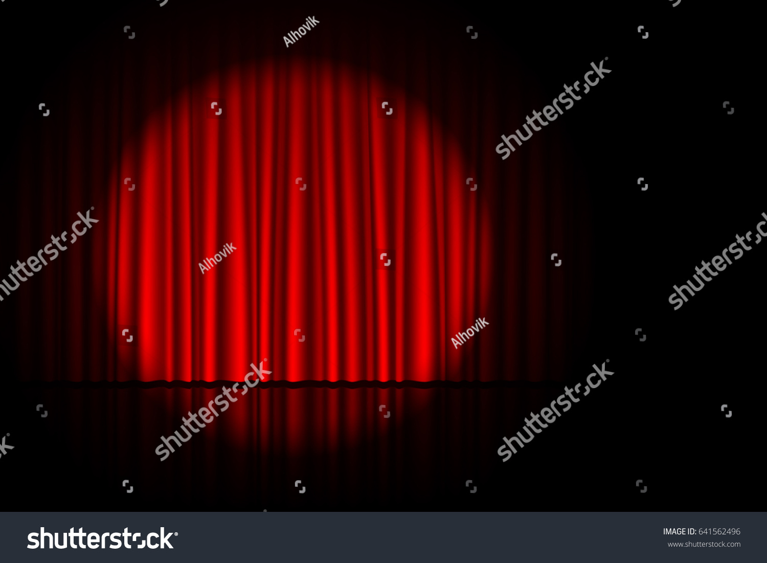 Red curtain spotlight - Stage With Red Curtain And Spotlight On It Theater Circus Or Cinema Poster Background