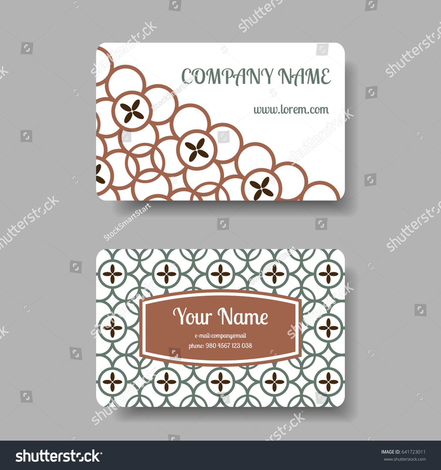 Vintage Business Card Collection Chinese Ornament Stock ...