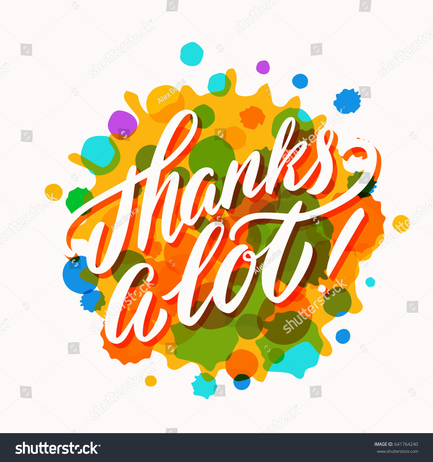 thanks lot thank you cardのベクター画像素材 641764240 shutterstock