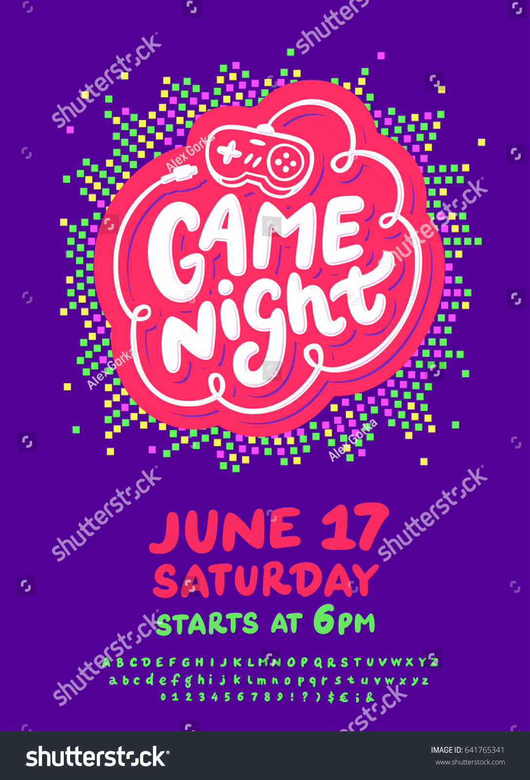 Game Night Poster Template Vector 641765341 Shutterstock – Quiz Night Poster Template Free